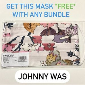NEW Johnny Was floral boho hippie face mask NWT
